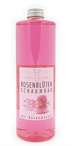 Rosa bagno di petali di bolla con acqua di rose 400 ml Haslinger n. 2901