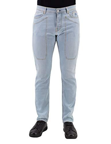 JECKERSON Jeans Blu Chiaro Cinque Tasche con Toppa - 34