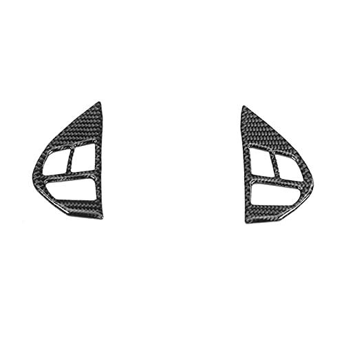 Just like Ajuste para Mitsubishi Lancer GTS ES DE 2008-2015 Cubierta del interruptor de la rueda del volante de la fibra de carbono Pegatina de la etiqueta engomada de la cubierta TRIM ACCESORIOS DE C