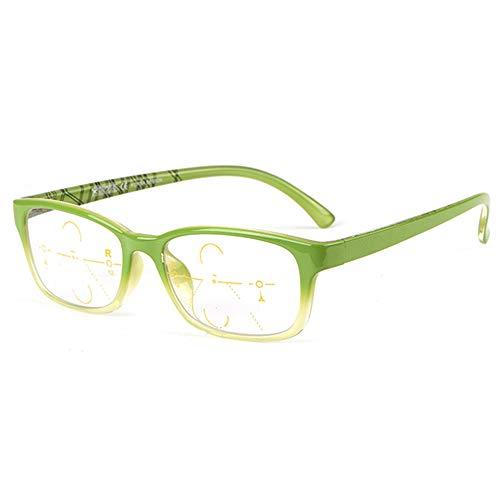 Anti Blauw Licht Leesbril High Definition Progressieve Multifocale Glazen Anti Vermoeide Ogen Optische Brillen Voor Mannen En Vrouwen,Green,+ 2.00
