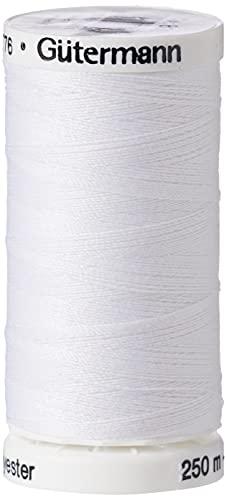 Gutermann Sew-All Filetage, Polyester, Blanc, 250m