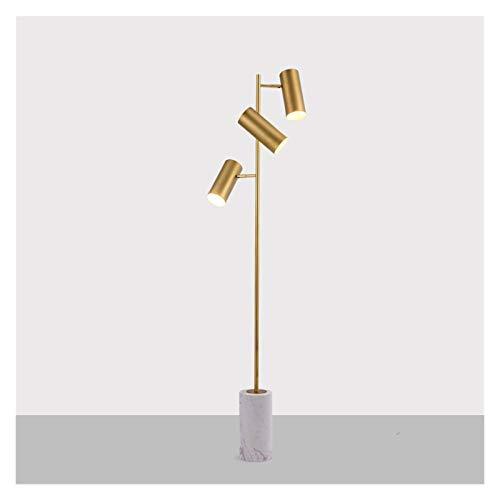YSJSPKK Golvlampa modern led kristall klassisk golvlampa målat glas golvlampa loft golvlampa golvstativ lampa (lampskärm färg: Koppar vit marmor)