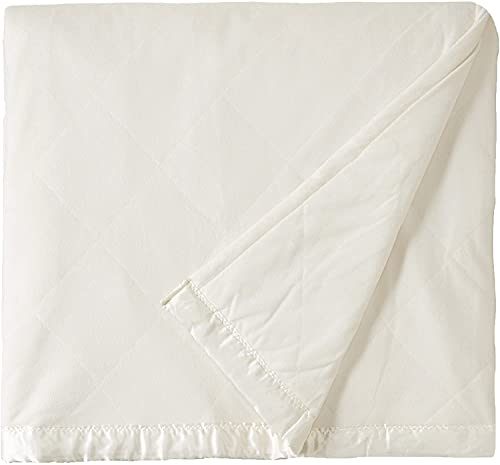 Shavel Home Products Micro Flannel Solid Electric Heated Blanket, Ivory, King/Cal-King