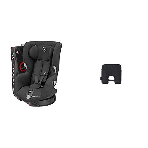 Bébé Confort Seggiolino Auto con dispositivo antiabbandono Axiss, Authentic Black, Seggiolino Auto 9-18 Kg Girevole e Reclinabile + Anti abbandono E-Safety