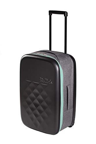 Rollink Flex21 Spring (Mint) - Der dünnste Koffer der Welt *patentierte Technik* - Handgepäck, Hartschalen-Koffer, Trolley, Rollkoffer, Reisekoffer, Bordgepäck für Ryanair, Lufthansa UVM. 55cm