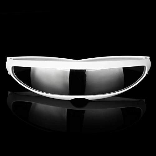 VIDOO Party Brille Neuheit Futuristic Cyclops Mirrored Sonnenbrille Monoblock Alien - 6