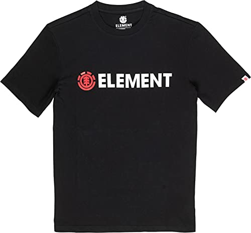 Element Blazin T-Shirt Mens Sz L Flint Black