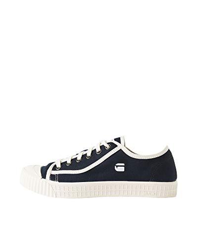 G-STAR RAW Rovulc Denim Low Sneakers, Zapatillas Mujer, Azul (Blue (Dk Navy 881) 881), 36 EU