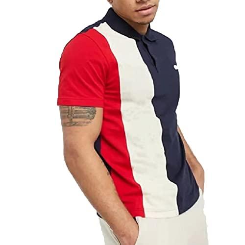 SSBZYES Camiseta para Hombre Polos De Verano De Manga Corta Camisetas De Gran Tamaño para Hombre Jerseys Polos De Contraste De Rayas Sueltas Tops para Hombre