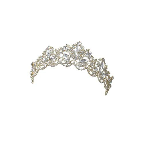 Lurrose 1 unid crystal hair hoops novia diadema corona de boda elegante...
