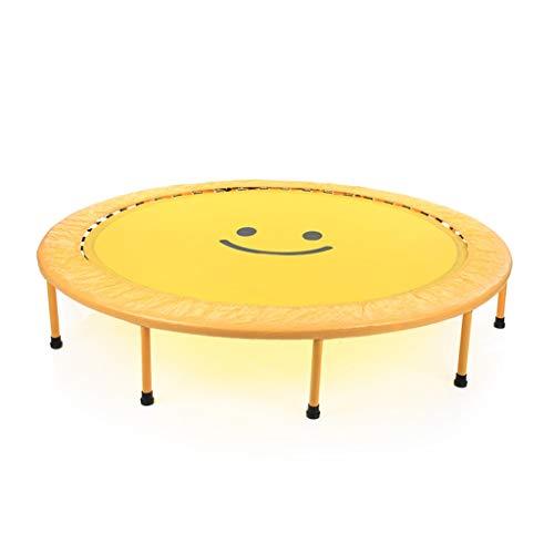 Fitness-Trampoline Ihr Trampolin, Indoor- / Outdoor- / Garten- / Yoga-Trampolintrainer, Fitness-Backboard für Erwachsene Innentrampolin (Color : Yellow)