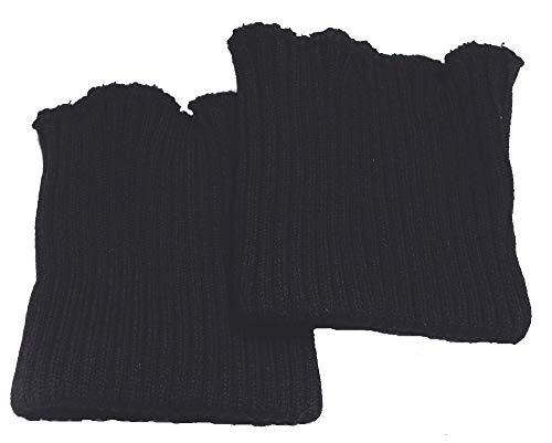 Ärmelbündchen schwarz grob gestrickt
