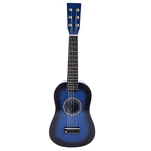 ANNA SHOP Kinder Gitarre Holz 6 Saiten Gitarre Spielzeug Musikinstrument Musik Gitarre Kinder Musikinstrumente Pädagogisches Spielzeug für Jungen ab 3 Jahre