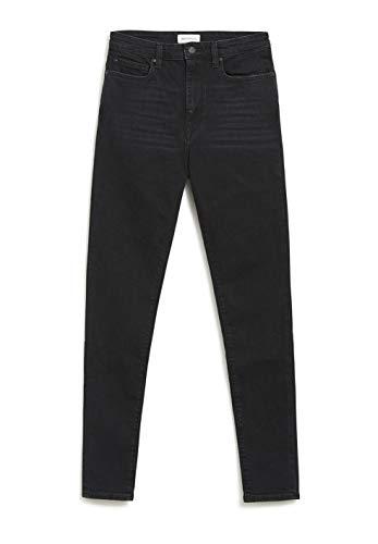 ARMEDANGELS INGAA - Damen Skinny Fit High Waist 30/28 Washed Down Black Denim Skinny Fit, Denims / 5 Pockets Skinny Skinny Fit