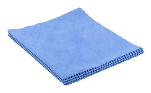 Paño bayeta ultra microfibra especial cristales. Pack 4 ud (Azul)