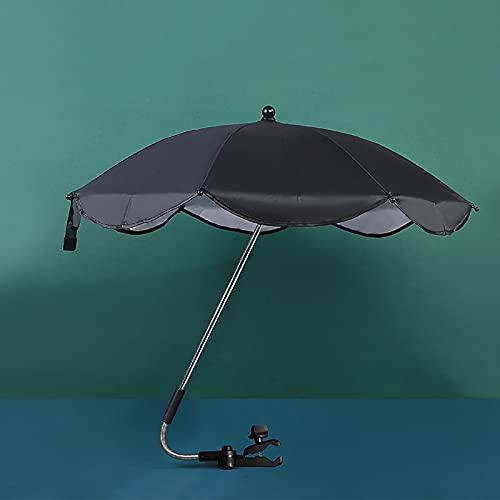 FYMIJJ sombrilla Carrito Bebe Universal Sombrilla Universal para bebés y niños pequeños,llueva o truene,Paraguas de protección UV para Cochecito Plegable con Clip Universal (Azul)