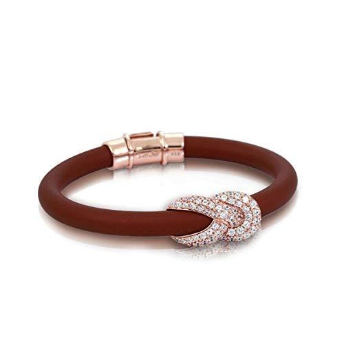Belle Etoile Pulseira Ariadne marrom e ouro rosa