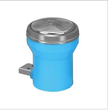 Sonorousz 2PCS électrique USB Rasoir Mini Portable Plug in Voyage Razor Nouveau (Blanc) (Color : Blue)