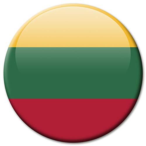 Kühlschrankmagnet Flagge Litauen Magnet Länder Flaggen Reise Souvenir für Kühlschrank stark groß 50 mm