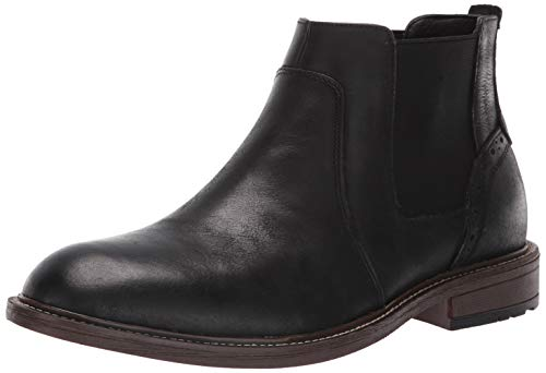 Steve Madden Men's TAMPAL Chelsea Boot Black Leather 8 M US