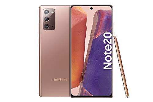 Samsung Galaxy Note 20 Android Smartphone ohne Vertrag Triple Kamera Infinity-O Bildschirm256 GB Speicher starker Akku, Handy in bronze inkl. 36 Monate Herstellergarantie [Exklusiv bei Amazon]