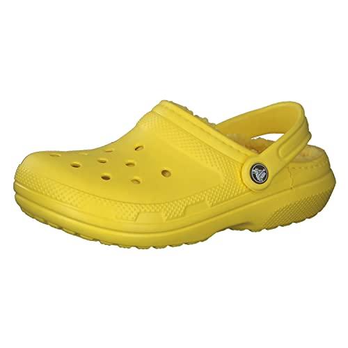 Crocs Damen Classic Lined Clog, Lemon/Lemon, 43/49 EU