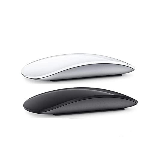 Bluetooth 5.0 Souris sans Fil, silencieuse Multi Arc Souris Tactile, Souris sans Fil d'ordinateur Portable Ultra-Mince Magic Mouse pour Ordinateur Portable Ipad Mac PC Macbook (Blanc)