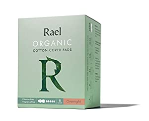 Rael Organic Cotton Menstrual Pads - Ultra Thin & Light Natural Sanitary Napkins with Wings (1 Pack)