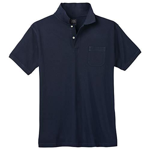 Kitaro Herren Polo-Shirt dunkelblau Übergröße, XL Größe:4XL