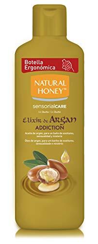 Natural Honey Elixir d'Argan Gel de bain – 4 boîtes de 650 ml – Total : 2600 ml