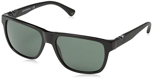 Emporio Armani Herren 501771 Sonnenbrille, Schwarz (Black), 58