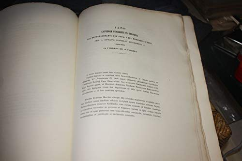 CAPITOLI STABILITI IN BOLOGNA 1438 DAI RAPPRESENTANTI DEL PAPA E DEL MARCHESE D'ESTE PER L'OTTAVO CONCILIO ECUNEMICO IN FERRARA ED IN FIRENZE