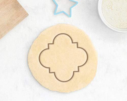 OUDE Cortador de galletas marroquí, cortador de galletas de azulejos marroquí, cortador de galletas geométrico, alfombra marroquí