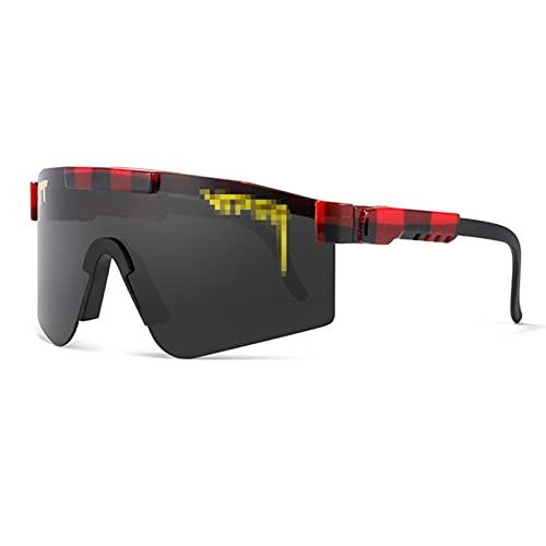 Gafas de sol polarizadas, para correr, pesca, golf, correr, resistente al viento, anti-UV, golf, TR90 UV400 para hombres y mujeres al aire libre