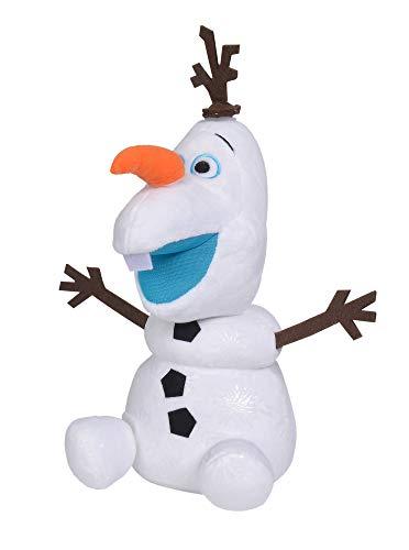 Simba  6315876938 - Disney Frozen 2 Olaf Spaß Olaf Plüschfigur, Activity Plüsch, 30cm groß, sprechender Schneemann aus dem Film Die Eiskönigin 2, für Kinder ab 3 Jahren