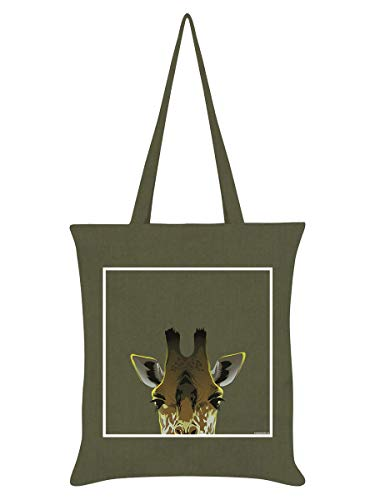 Inquisitive Creatures Fourre-Tout Giraffe 38 x 42 cm Olive Verte