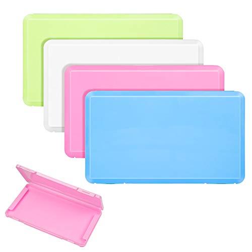 WolinTek 4Pcs Maskenbox,Masken Aufbewahrungsbox,Tragbare Masken-Aufbewahrungstasche, Masken Case,Staubmasken-Aufbewahrungsbox für Mundschutz