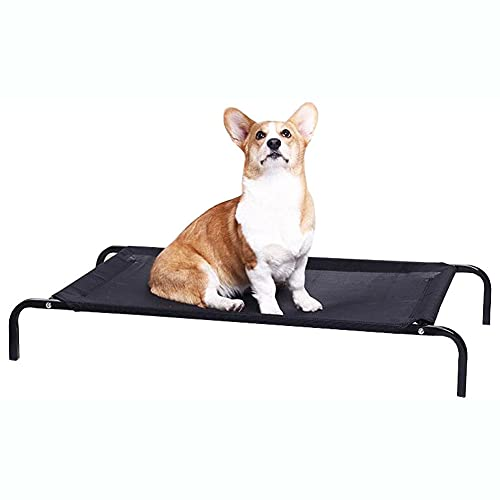 lovecabin Cama Perro Grande XXL Antiestres - Cama Elevada Transpirable para Mascotas Exterior Jardin Terraza Portátil Perro Apto Interior Exterior Viaje