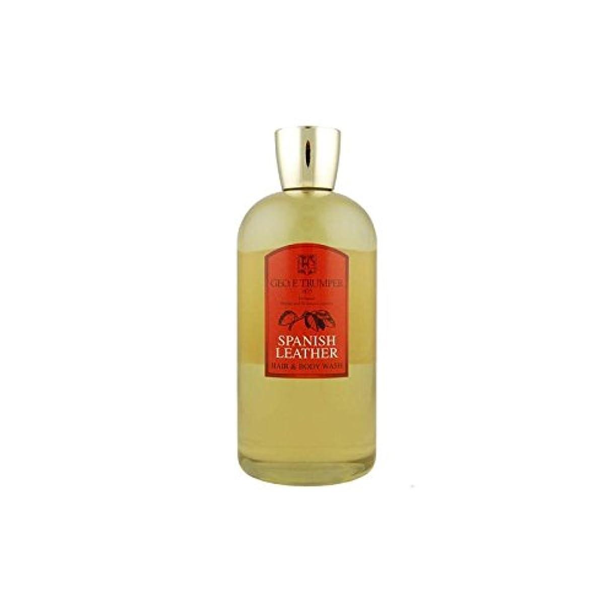 メロン居眠りする誇りに思う革の髪とボディウォッシュスペイン語 - 500ボトル x2 - Trumpers Spanish Leather Hair and Body Wash - 500mlTravel Bottle (Pack of 2) [並行輸入品]