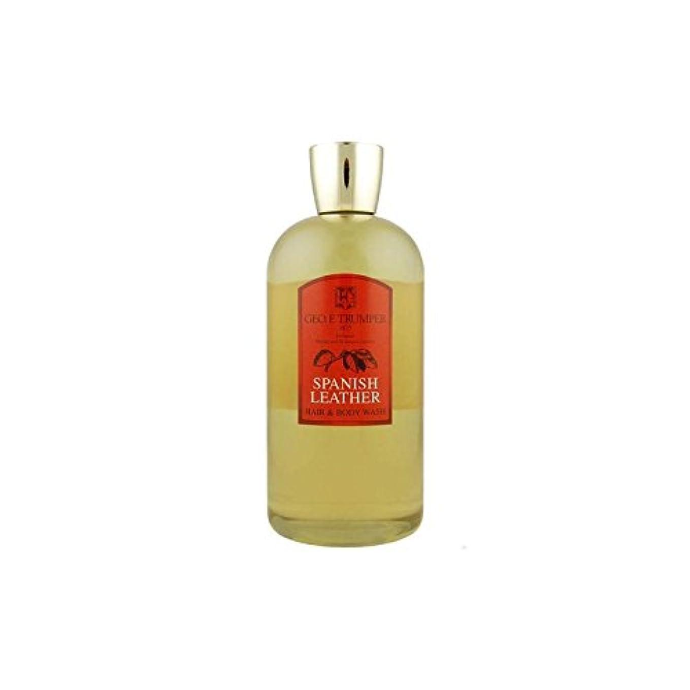 現代の美的メアリアンジョーンズ革の髪とボディウォッシュスペイン語 - 500ボトル x4 - Trumpers Spanish Leather Hair and Body Wash - 500mlTravel Bottle (Pack of 4) [並行輸入品]