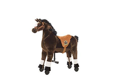Animal riding ZRP002S Reitpferd Amadeus (für Kinder ab 3 Jahren, Sattelhöhe 56 cm, mit Rollen) ARP002S, Braun, S