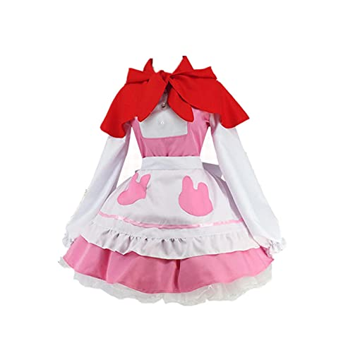 ULLAA Disfraz de Cosplay Mascarada de Halloween Kobayashi's Maid Dragon KannaKamui Maid Delantal Trajes de vestir para exhibicin de Trajes M Traje de vestido de mucama rosa