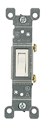 Leviton 15 Amp, 120 Volt, Toggle Framed Single-Pole Ac Quiet Switch, Residential Grade, Grounding, 10-Pack, White