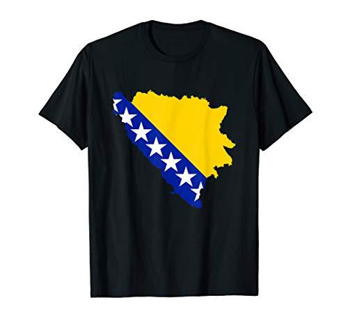Bosnien Flagge Fahne T-Shirt