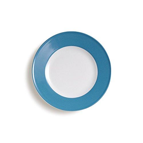 Dibbern Solid Color Teller flach 21 cm vintage blue