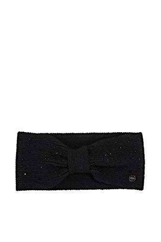 ESPRIT Accessoires Damen 110EA1P306 Beanie-Mütze, 001/BLACK, 1SIZE