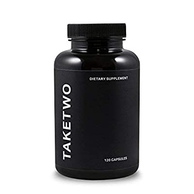 Take Two - Vegan Dietary Fibre Supplement for Men, Pure Digestive Cleanliness, 120 Capsules