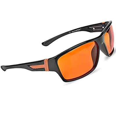 Fashionable Blue Blocking Amber Glasses for Sleep - BioRhythm Safe(TM) - Nighttime Eye Wear - Special Orange Tinted Glasses Help You Sleep and Relax Your Eyes