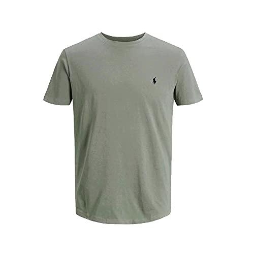Ralph Lauren Camiseta para Hombre Custom Fit (S, Gris)