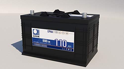 Bateria arranque coche furgoneta todoterreno y camión EPHA1100 Bateria 12v 110 Ah 800EN +DER Garantía TUDOR